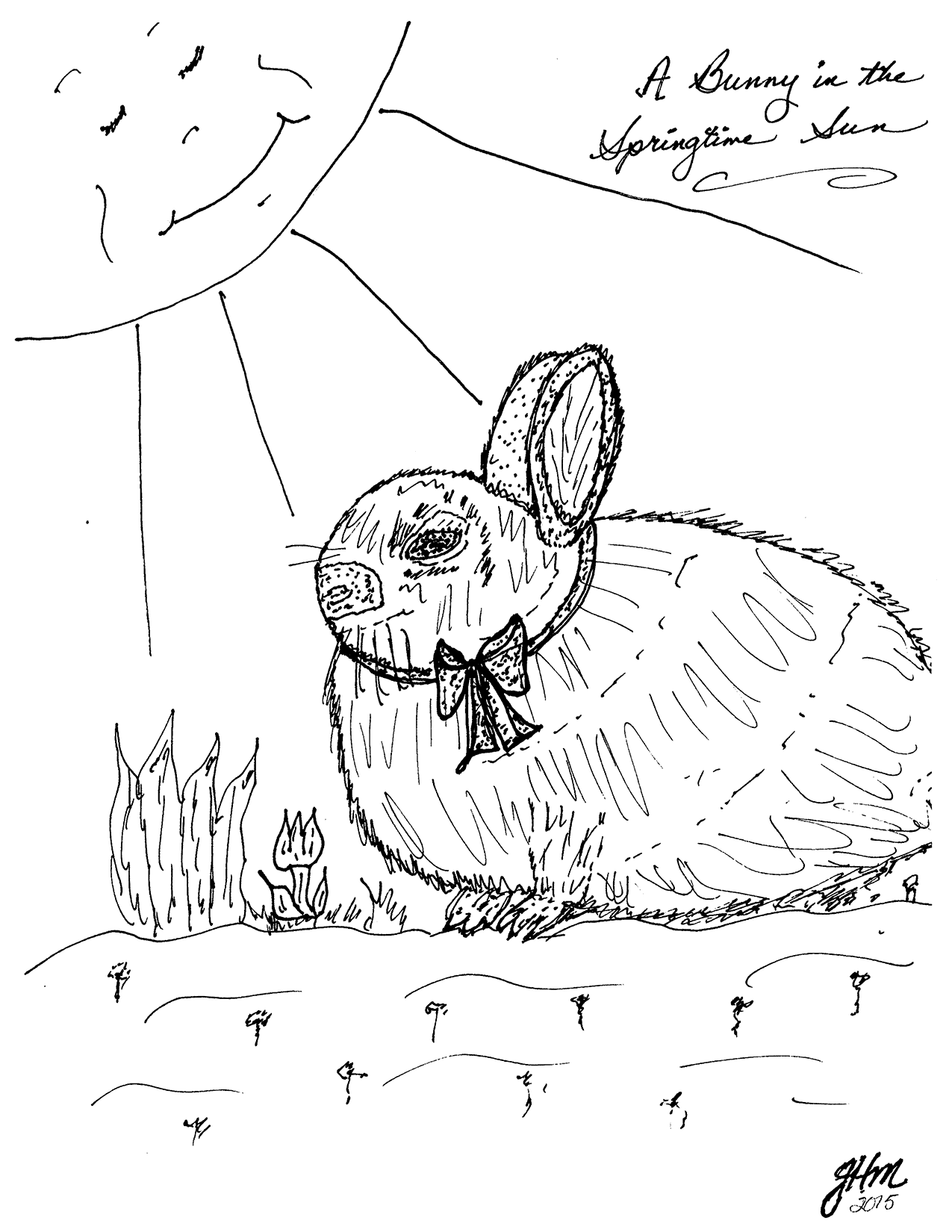 Bunny in Springtime Sun