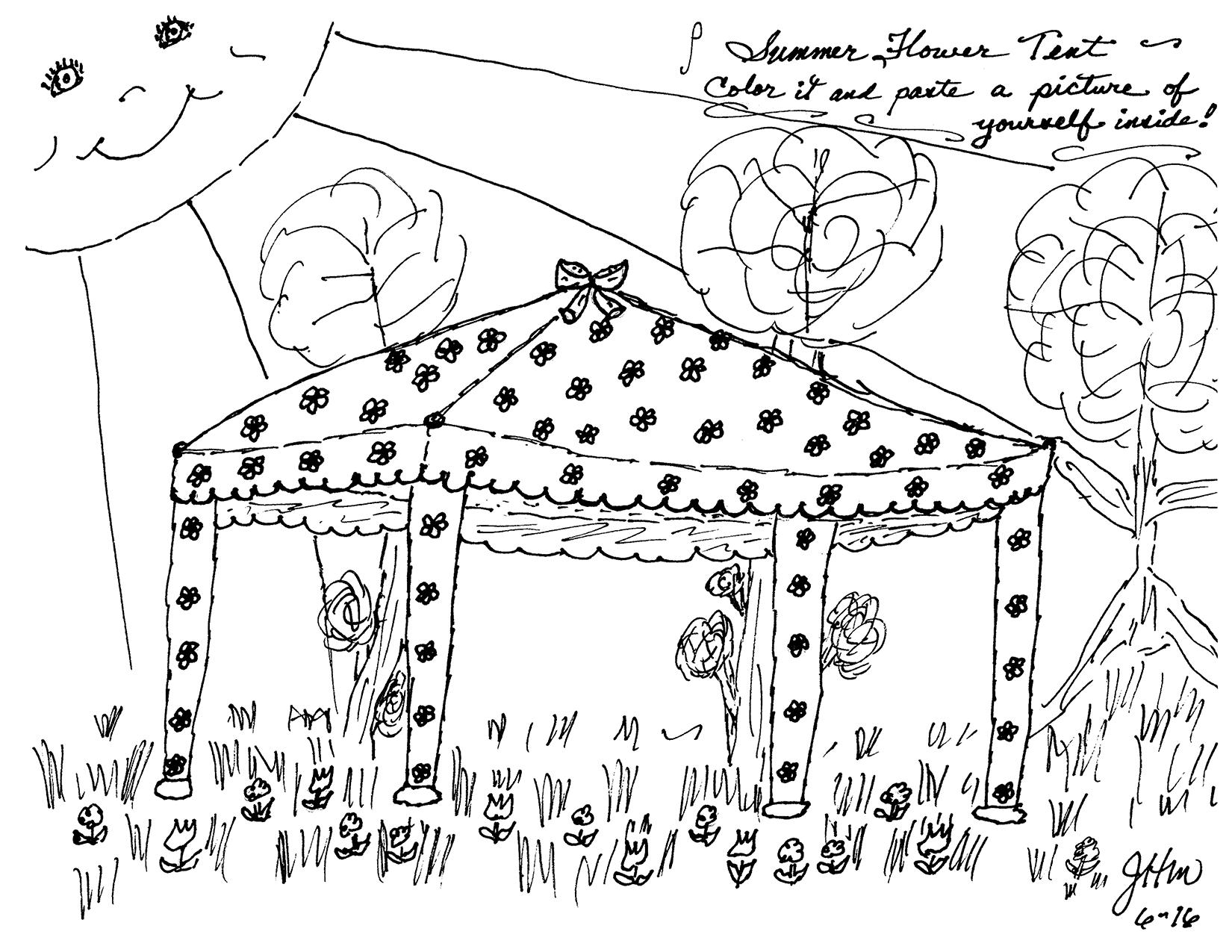 Summer Flower Tent